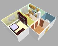 1-комнатная квартира 47.98 кв. м